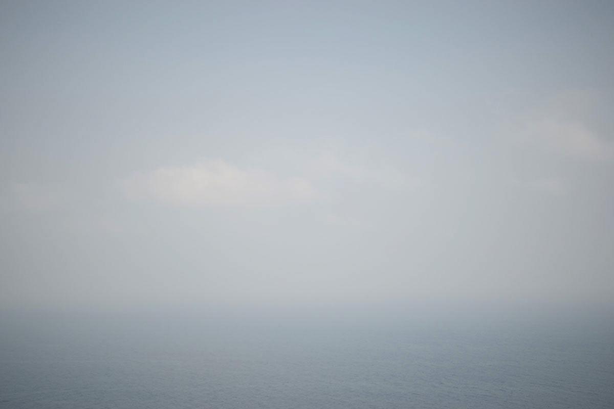 眼前に広がる太平洋。このくすんだブルーのグラデーションがなんとも言えない